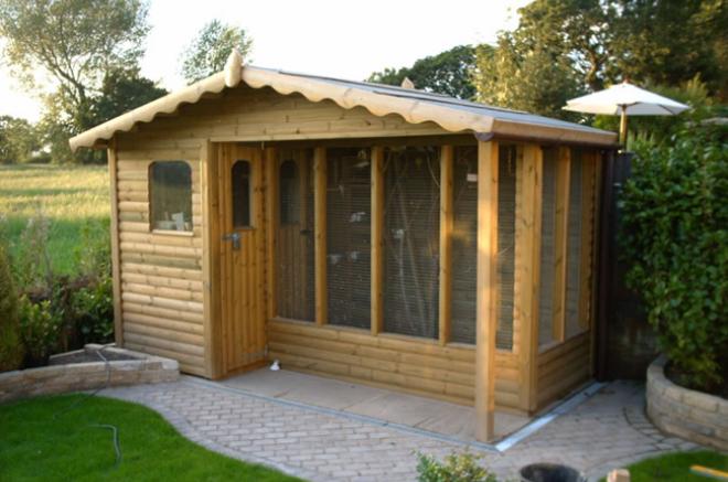 shed aviary bird house