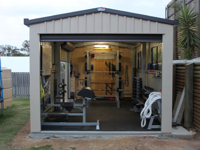 shed garage backyard gym