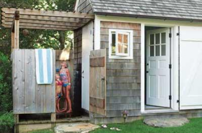 shed with shower stall