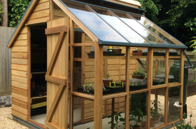 sheds with greenhouse