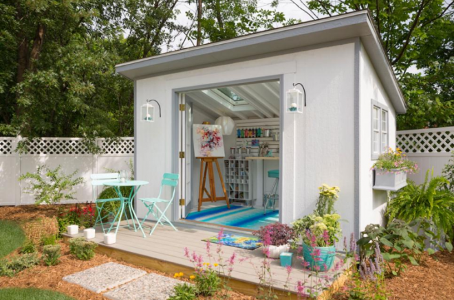 small art studio shed