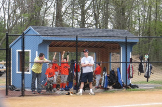 sports dugout shed