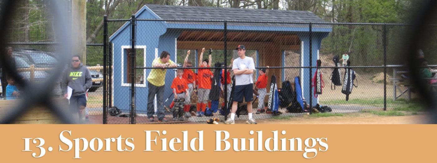 sports field storage buildings