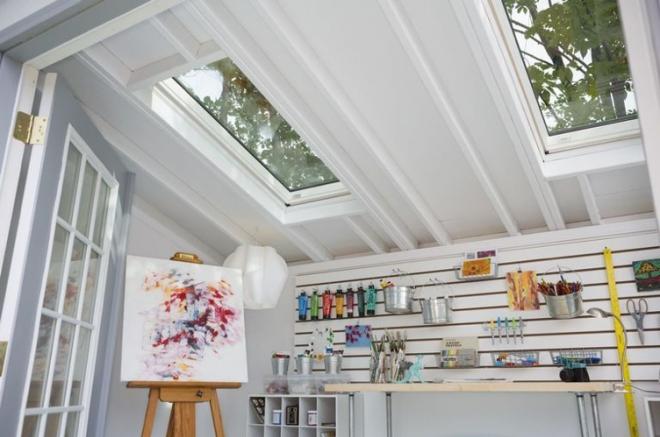 storage shed art studio 0