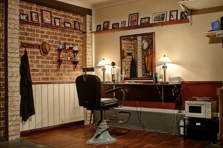 storage shed barber shop