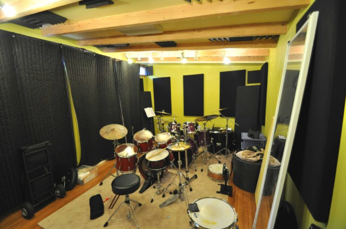 storage shed recording studio