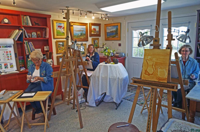 storage shed studio for art