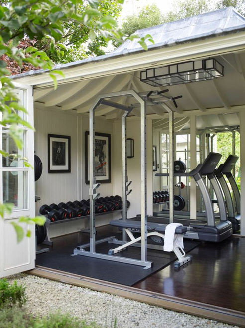 white bright shed gym