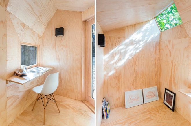 writing studio in a shed