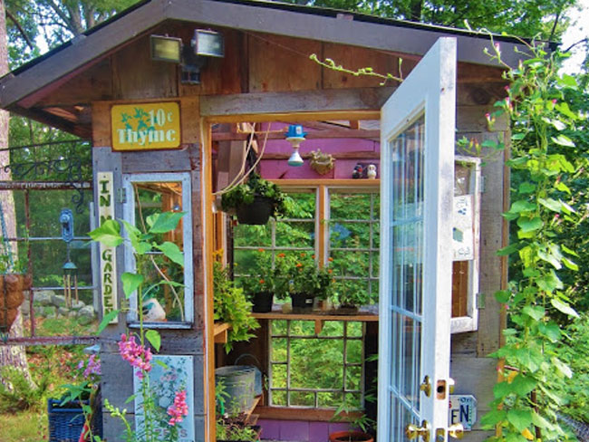 garden backyard potting sheds 0