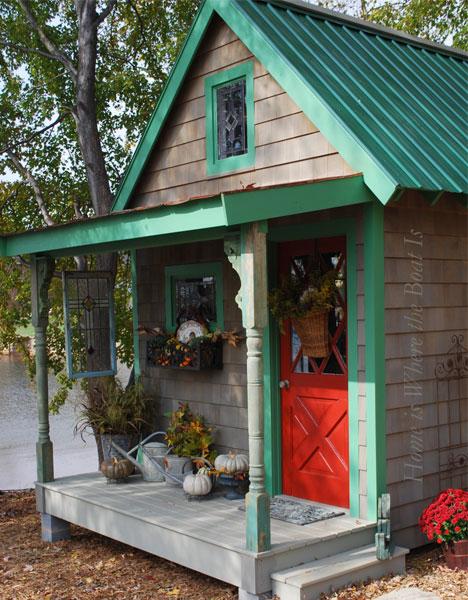 woode potting backyard shed