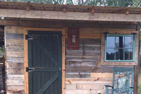 backyard potting shed made of pellets 1