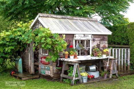 custom potting shed ideas for backyard