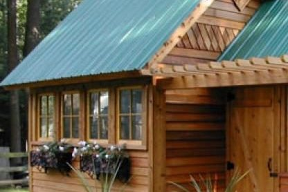shed for potting in backyard 0