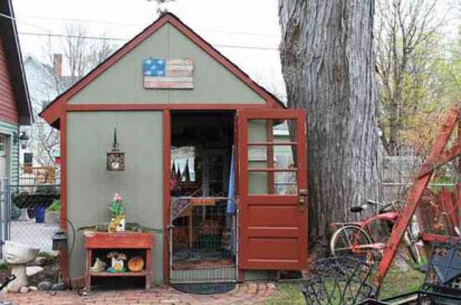 storage shed potting