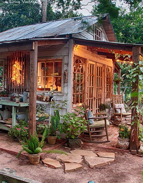 wood backyard potting shed for sale