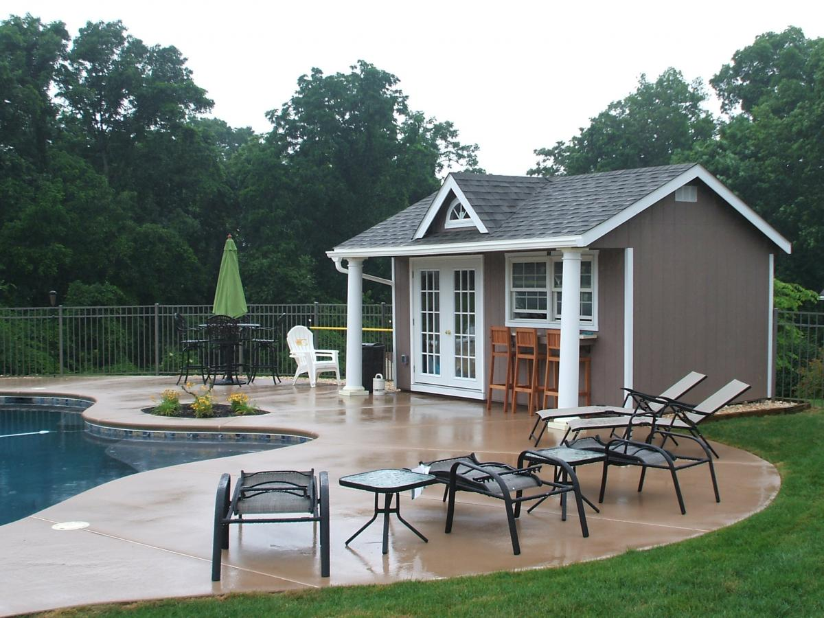 pool house building