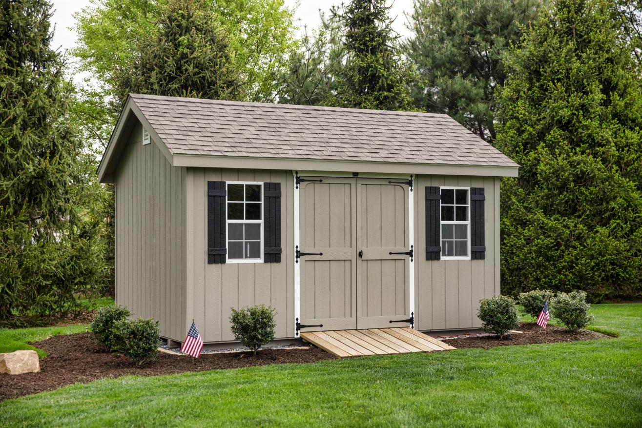 mulch shed landscaping 0