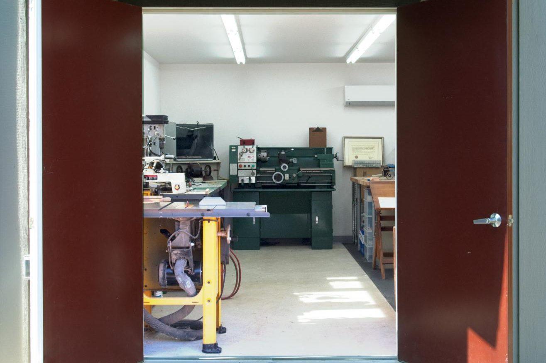 backyard office shed entrance 1