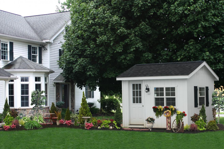 classic backyard office shed