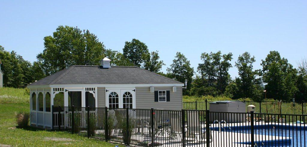 vinyl backyard swimming pool house