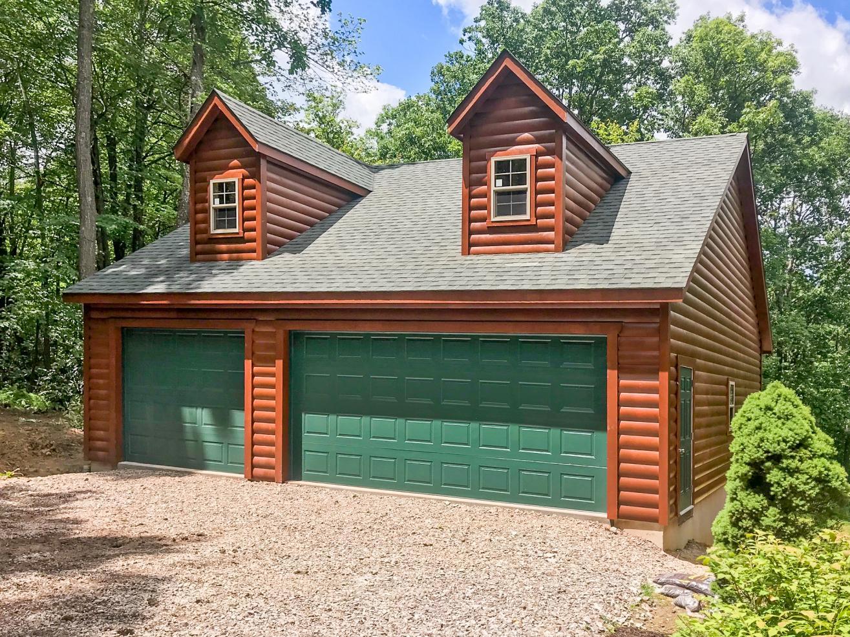 3 car garage with attic