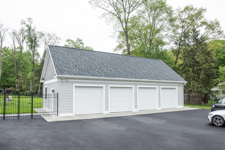 4 car garage with attic