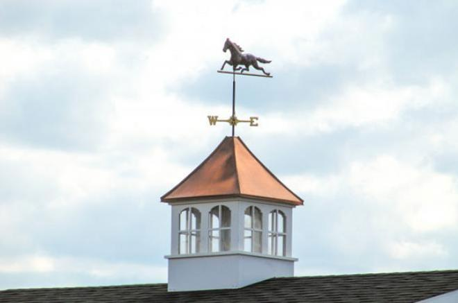 cupola with a horse for prefab garage 0