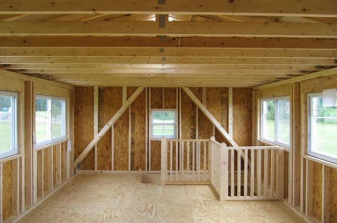 legacy attic room prefab garage 0