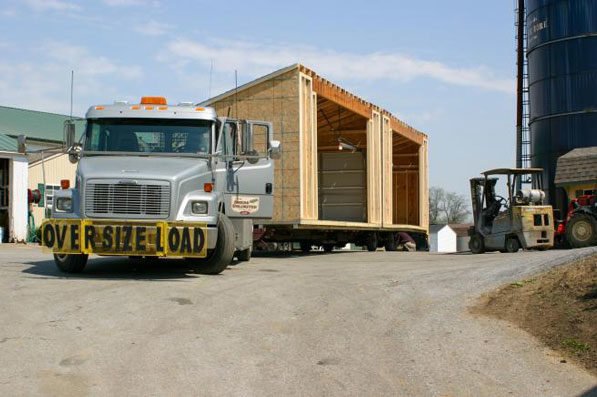 modular garage on the truck 0