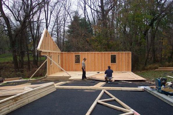 prefab garage construction 0