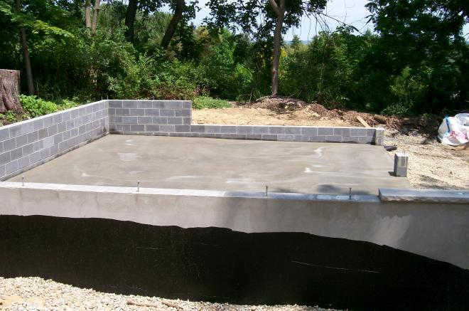 concrete pad preparation for deatched garages 7