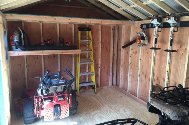 12x16 inside standard premier garden storage sheds pa