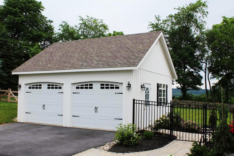 2 car amish built garage