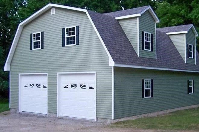 2 car garage amish built