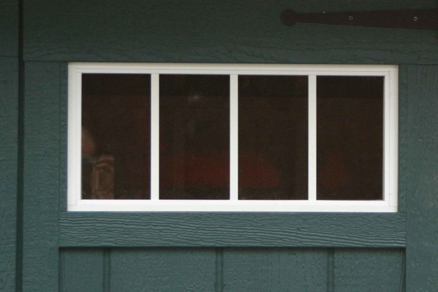 4 pane window on amish built garage
