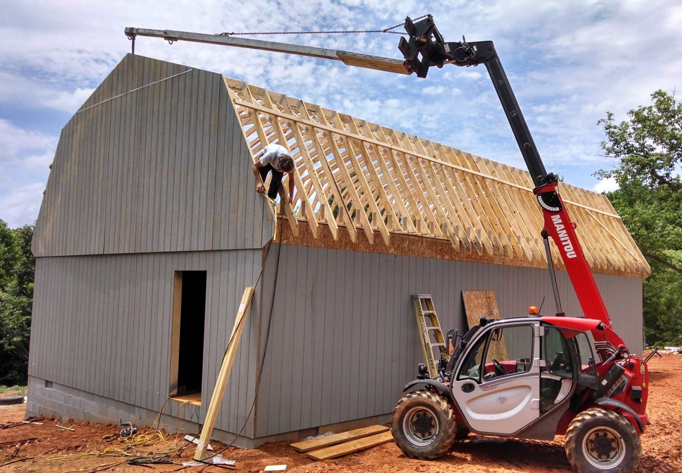 amish built maxibarn garage 0