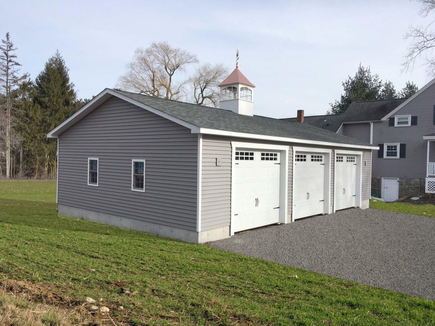amish built 3 car modular garage