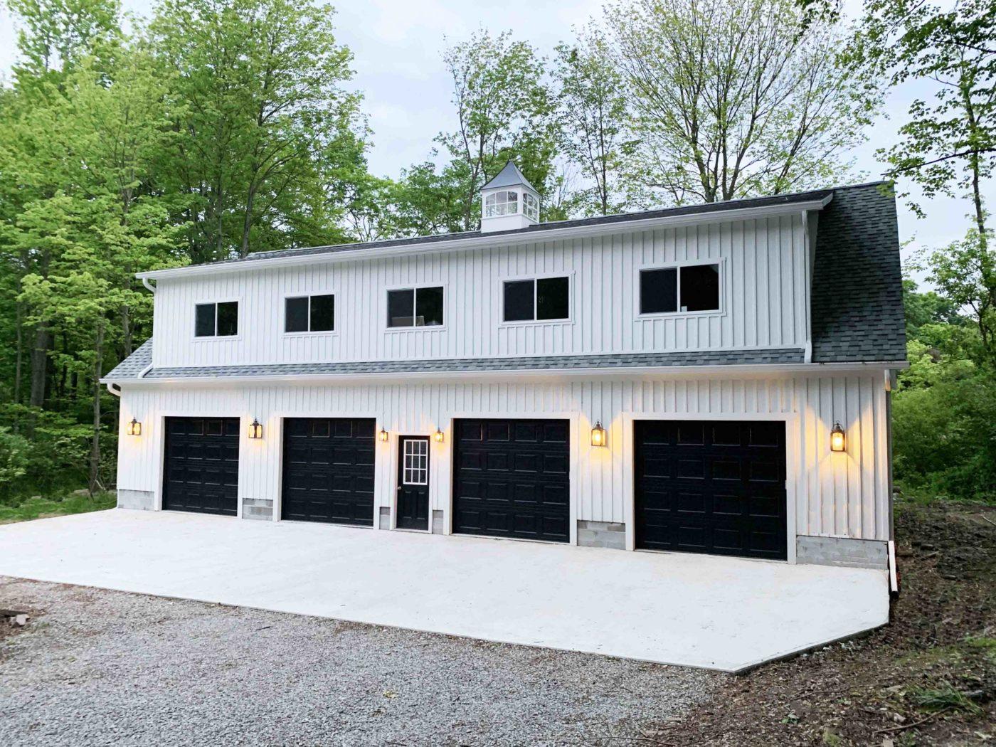 amish built 4 car garage