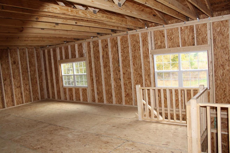 amish built legacy 2 story garage