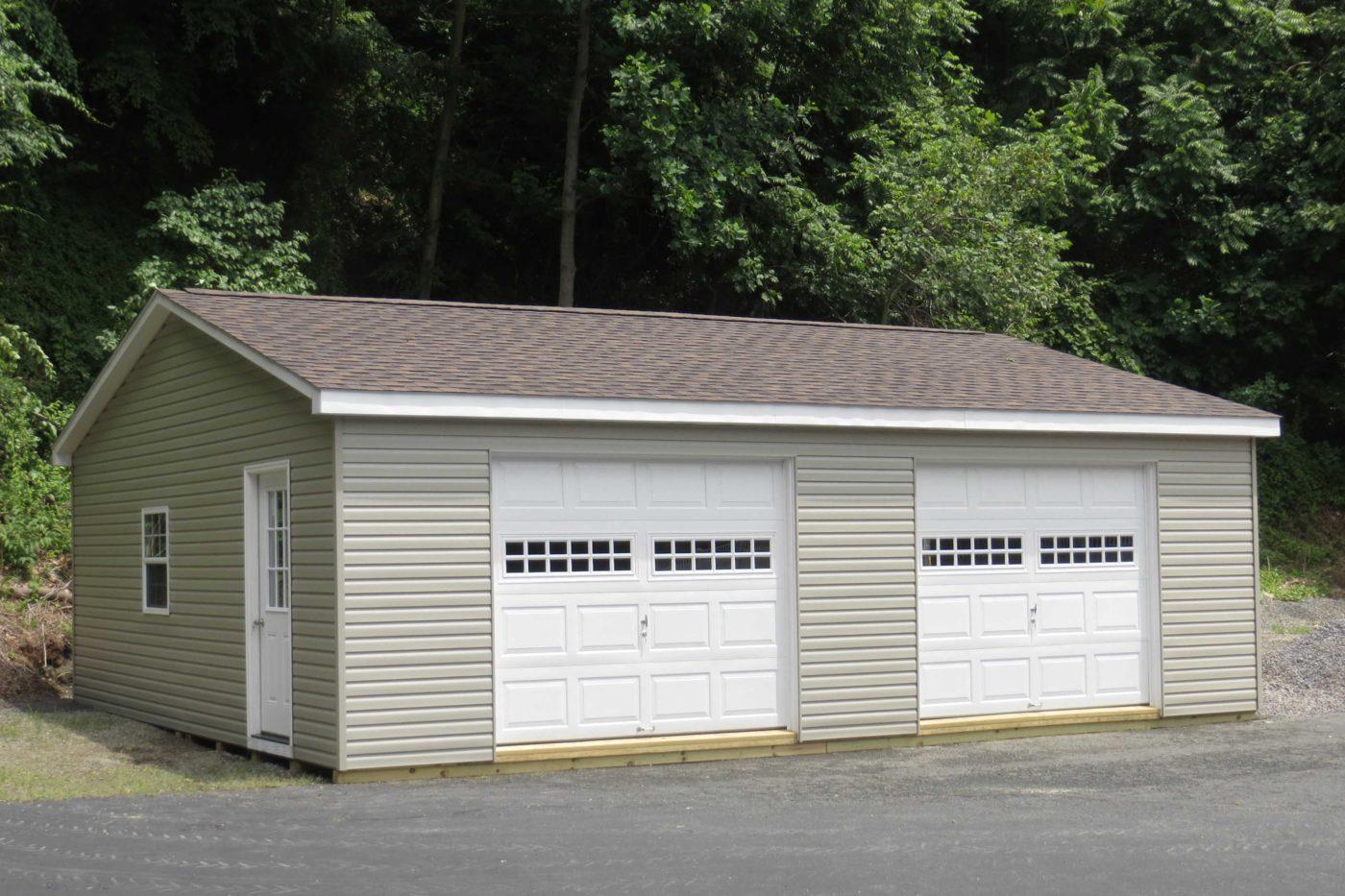 amish built double wide modular garage