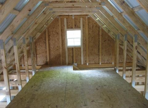 amish built garage with attic space 0