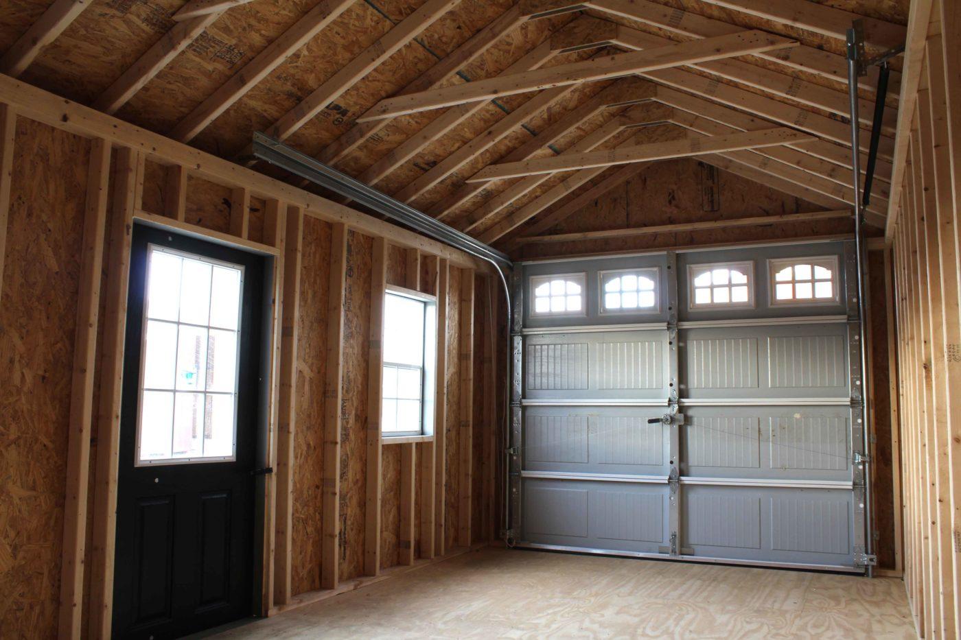 amish built single story garage
