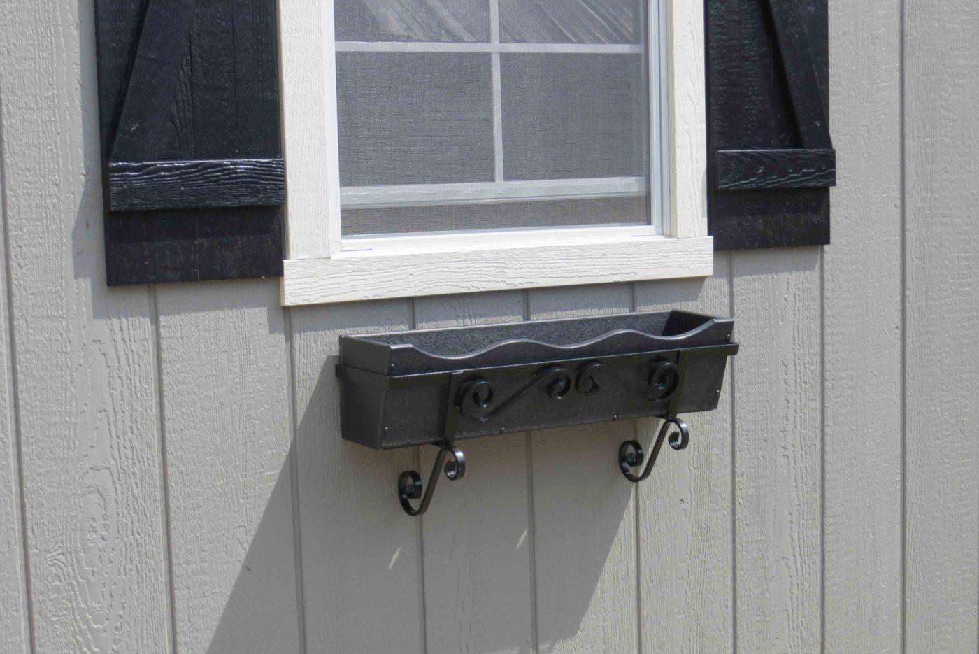 gray flowerbox pa garage builder