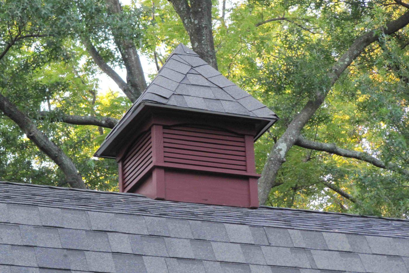 red cupola amish built garage
