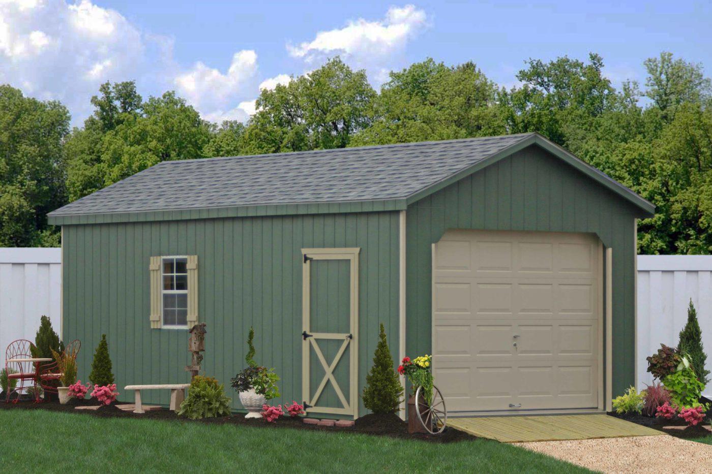 workshop style for amish built garage