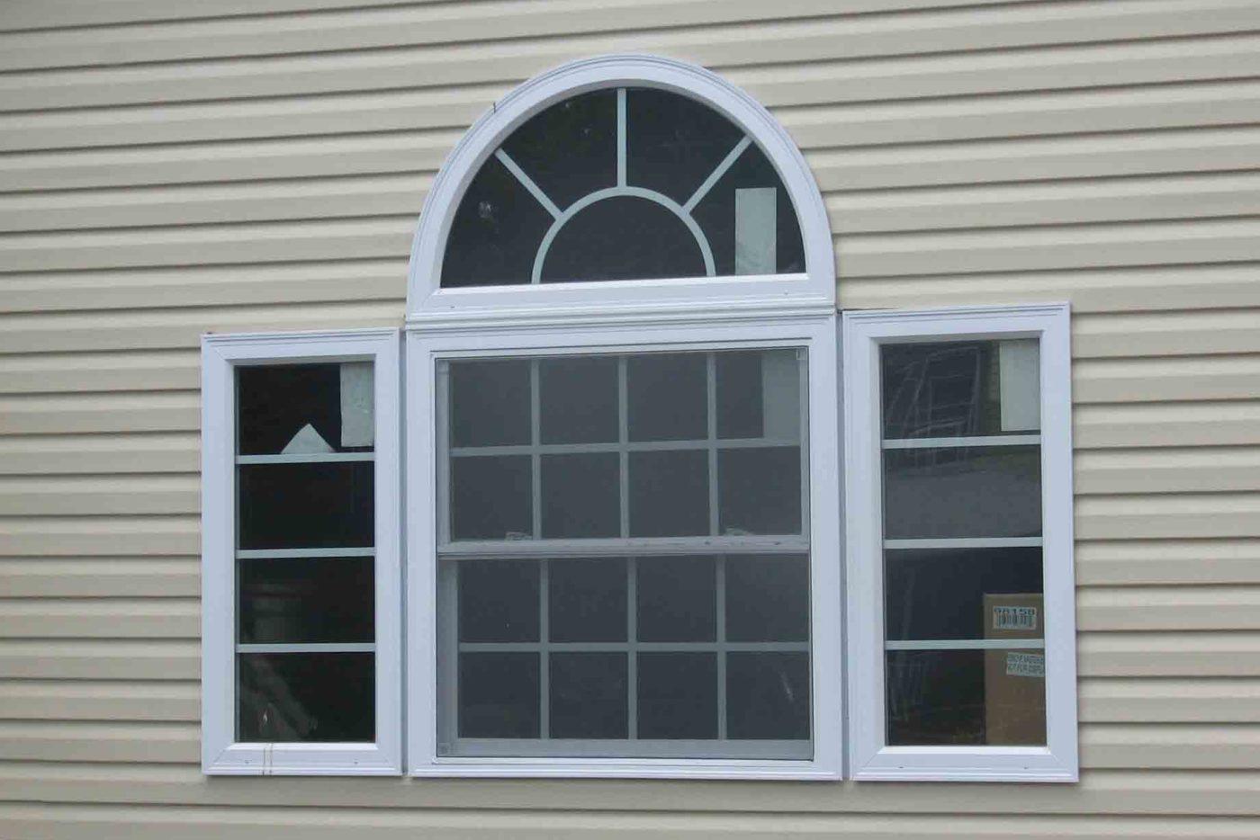 half moon window detached garage builder
