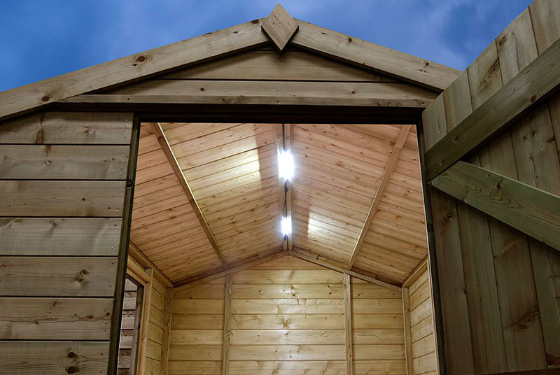 garden shed with electric2 0