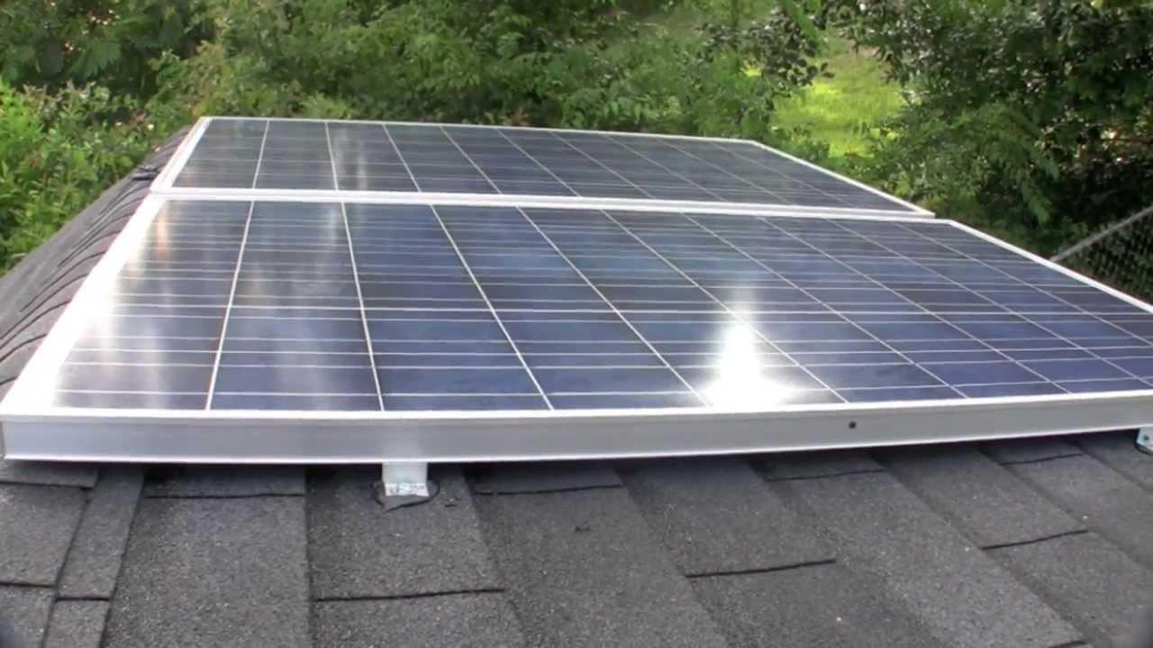 solar panel garden shed