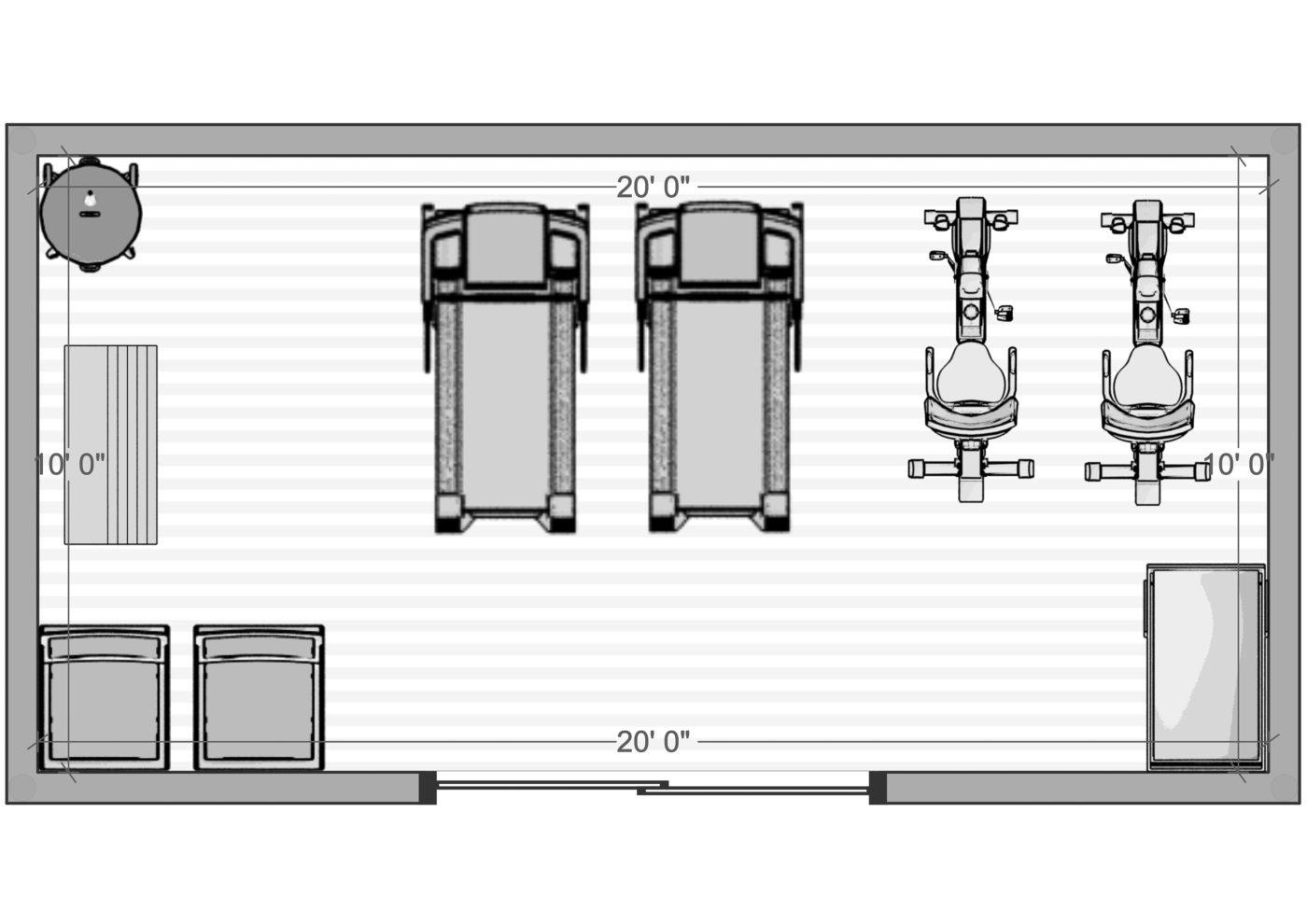 10x20 storage shed diagram